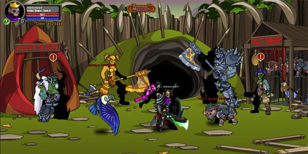 AQWorlds BloodTusk Ravine - Horcs Kingdom
