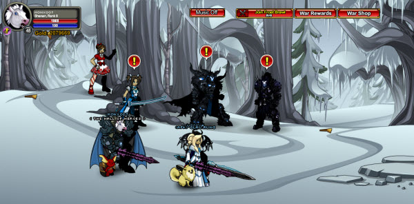 AQWorlds Dage's Dark Winter - Devastation Of Frostfang