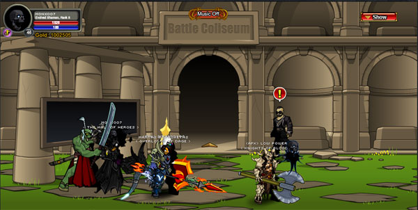 AQWorlds Dwarves VS Giants