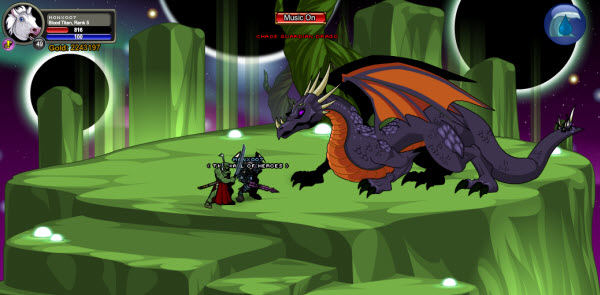 AQWorlds Fae's Fabled Forest: The Shifting Shape Of Chaos - Chaos Guardian Dragon