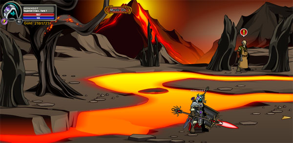 AQWorlds Friday The 13th: Robots, Erupting Volcanoes and Unicorns (Fire River Location)