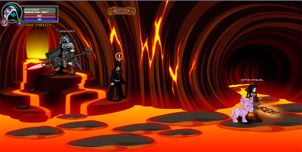 AQWorlds Friday The 13th: Robots, Erupting Volcanoes and Unicorns (Fire Tunnel Location)