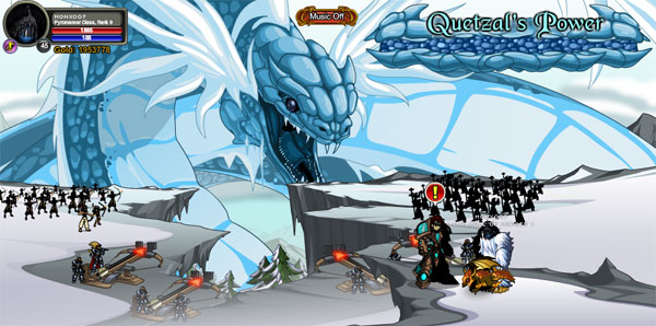 AQWorlds Frostvale 2012: Fighting The Beast Quetzal Walkthrouh