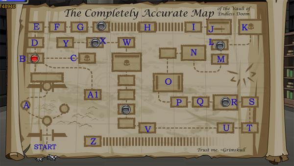 AQWorlds Grimskull's Dungeon: The Vault Of Endless Doom Map