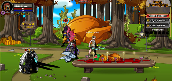 AQWorlds Harvest Feast - Turkey, Terror and Triumph