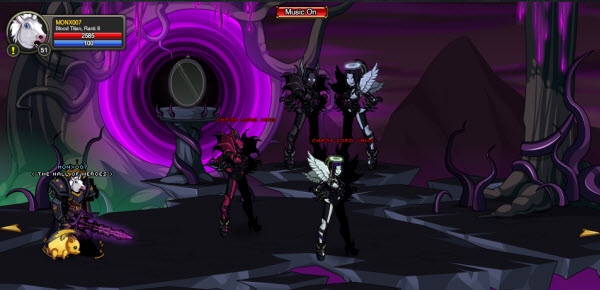 AQWorlds The 13th Lord Of Chaos - 2nd Fight The Twins