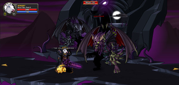 AQWorlds The 13th Lord Of Chaos - 5th Fight Wolfwing