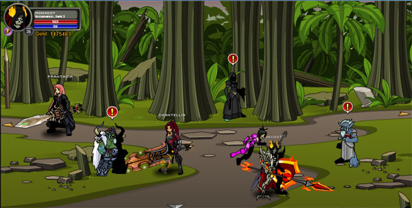 AQWorlds War Between Horcs and Trolls