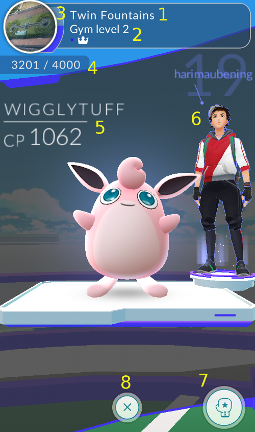 Pokemon Go: Gym Screen