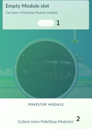 Pokemon Go: Empty Module Slot at PokeStop