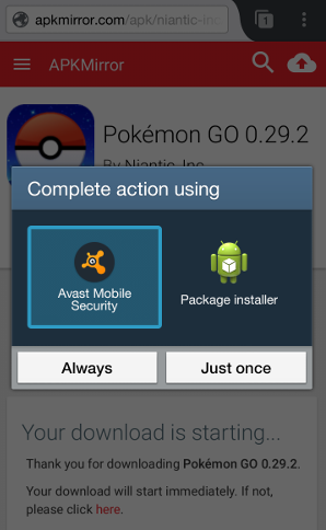pokemon go controls apk mirror