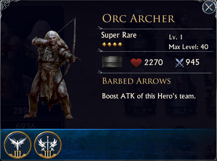 THE LORD OF THE RINGS - LEGENDS OF MIDDLE EARTH: Orc Archer