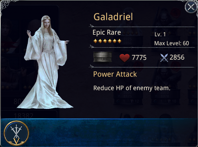 THE LORD OF THE RINGS - LEGENDS OF MIDDLE EARTH: Galadriel