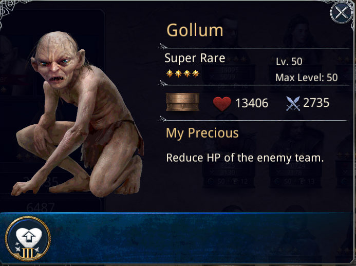THE LORD OF THE RINGS - LEGENDS OF MIDDLE EARTH: Gollum