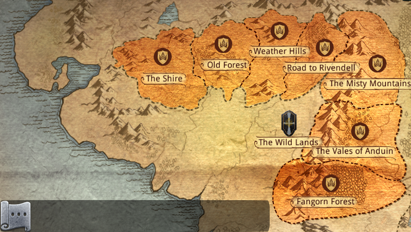 THE LORD OF THE RINGS - LEGENDS OF MIDDLE EARTH: Quest Zone Information